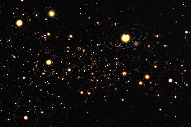 ... planets are around the stars in the Milky Way. (Credit: Wikimedia