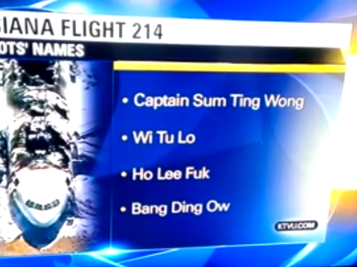 KTVU misreports Asiana pilot names as