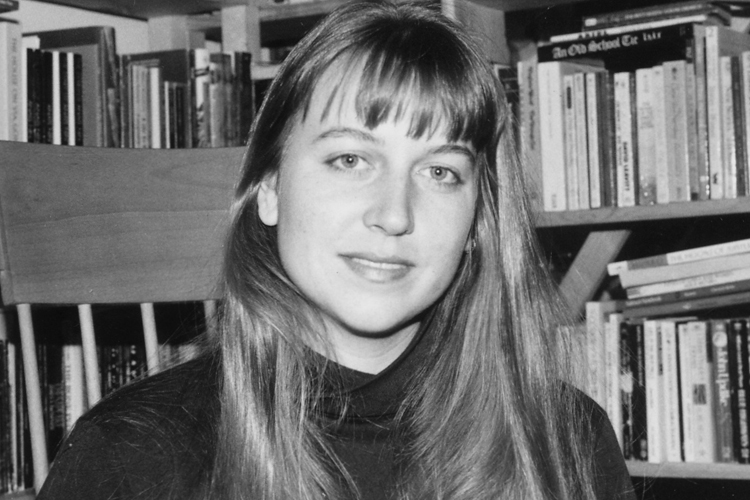 photo of the author in her Park Slope apartment in 1993