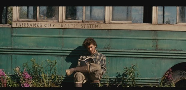 Emile Hirsch as Chris McCandless in the film version of Into the Wild