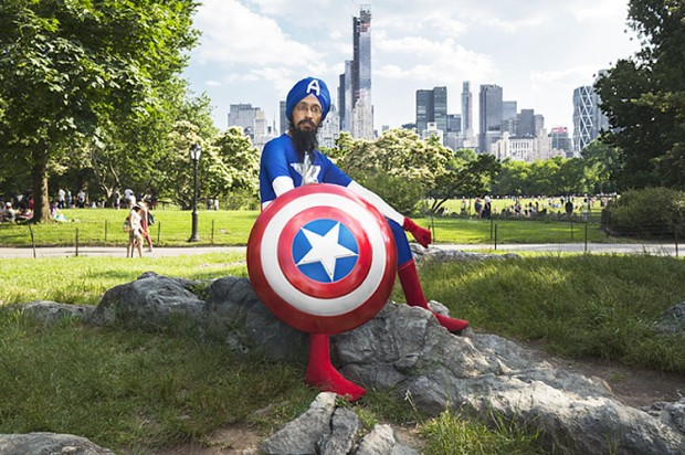 Captain America in a turban