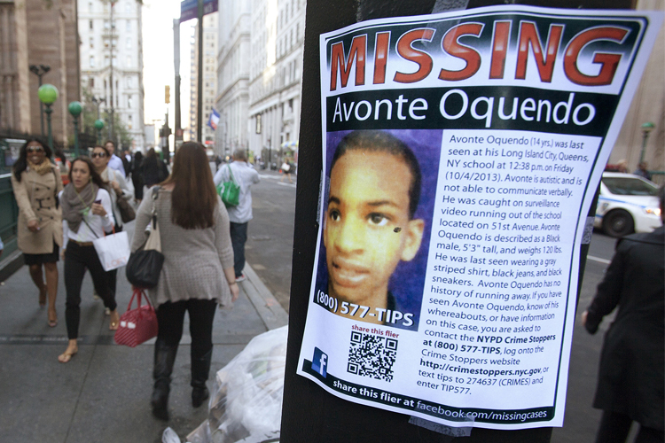 avonte oquendo Avonte oquendo's memory lives on with a new law which will help locate children with autism who are prone to wandering, aacording to us sen charles schumer.