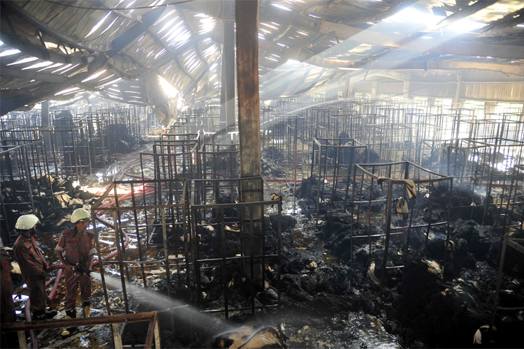 At least 10 killed in Bangladesh garment factory fire
