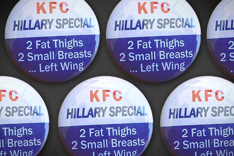 Republicans' Sexist Anti-Hillary Buttons Aren't Even