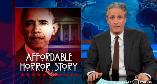 Must-see morning clip: Jon Stewart fact-checks the media on Obamacare