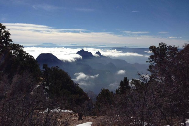 Rare Spectacular Photos Show The Grand Canyon Filled To The Brim - Rare weather event fills grand canyon with fog and gives us this breathtaking sight