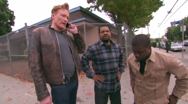 Ice Cube, Conan O'Brien and Kevin Hart took a ride from a ...
