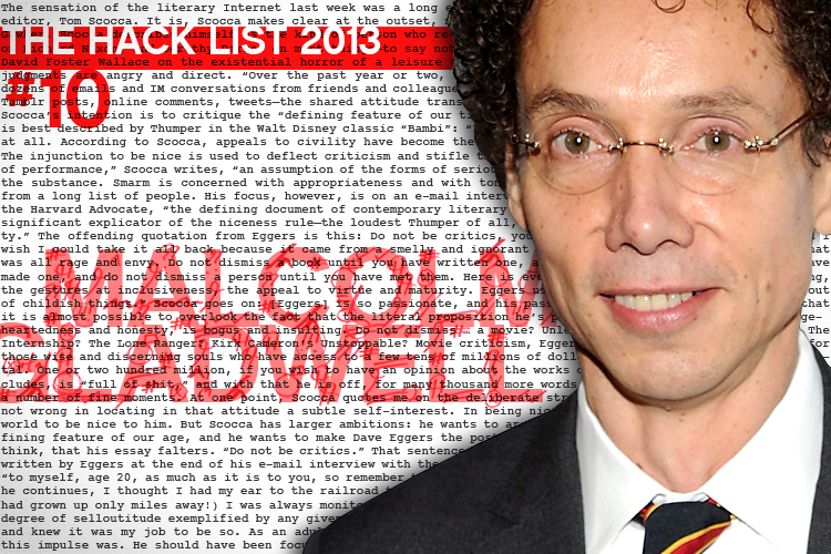 Buy Here Pay Here Nh >> Hack List No. 10: Malcolm Gladwell | Salon.com