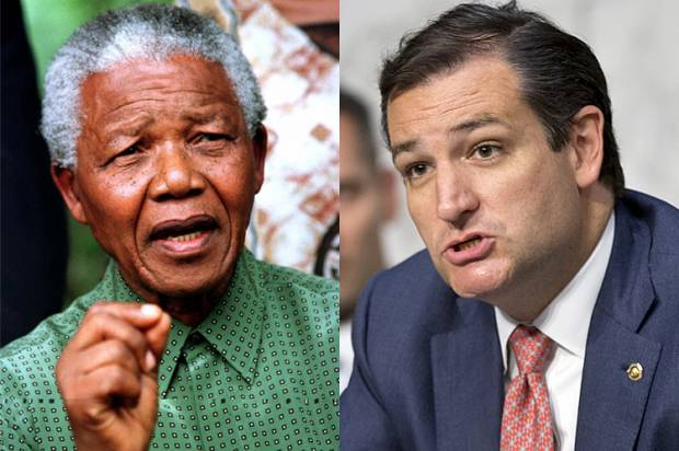Nelson Mandela, Ted Cruz