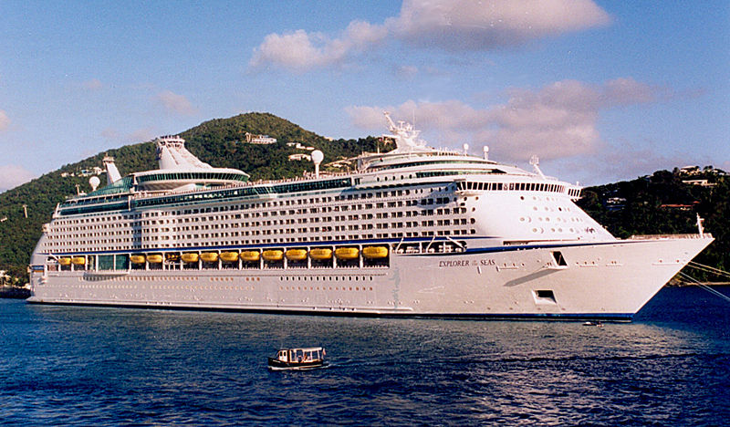 Royal Caribbean Cruise Ship Docked By Massive Stomach