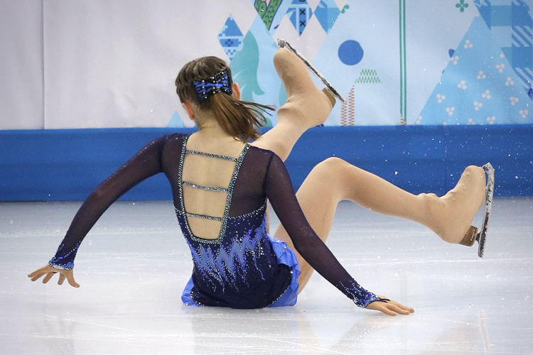 Image result for figure skating fall