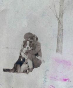 Shirley and Pal, Christmas Day, 1930