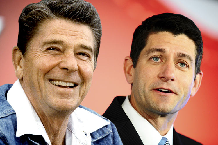 Image result for Paul Ryan and Ronald Reagan