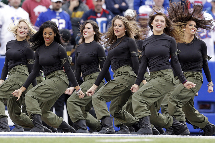 Buffalo bills cheerleaders cannot