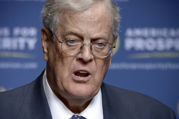 This is the legacy of citizens united koch brothers for David charles koch