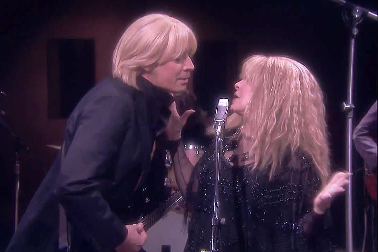 Stevie nicks performs stop draggin my heart around with for Nick s hair salon