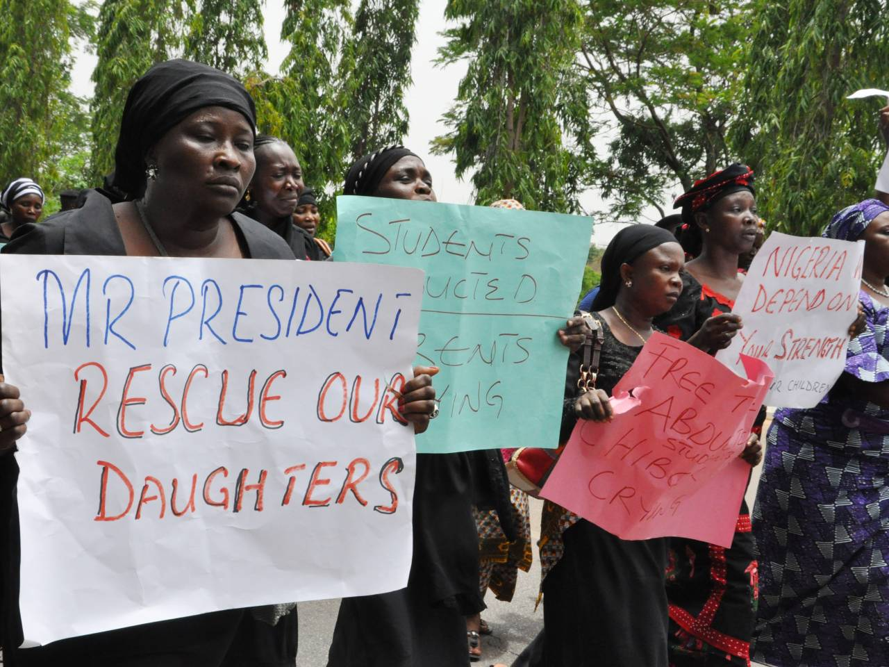 Search for 110 missing girls after Boko Haram attack in