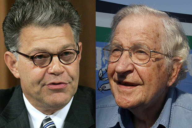 Noam Chomsky vs. Al Franken: Behind the odd progressive divide between senators, intellectuals on Gaza