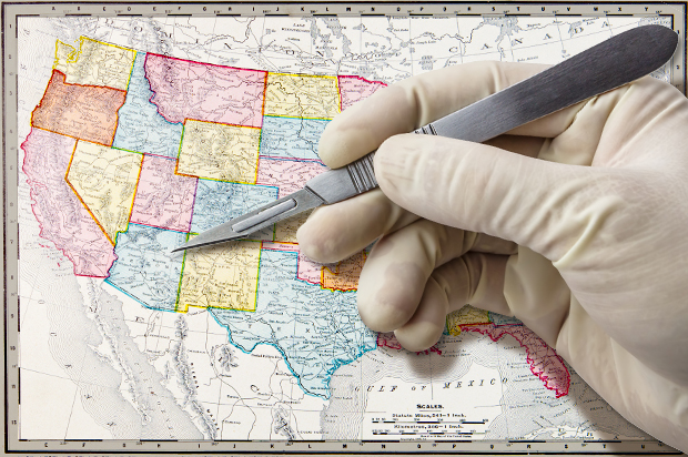 Break Up The States The Case For The United Statelets Of America - Us breakup map