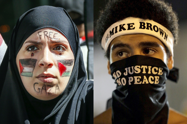 Gaza Ferguson Palestinian Protesters Photo Drawing Comparisons