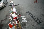 A makeshift memorial for Michael Brown, Aug. 11, 2014, in Ferguson, Mo.