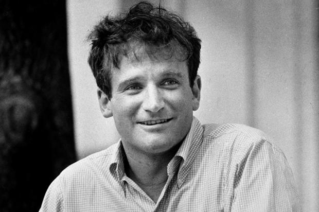 Robin Williams Young Robin Williams burning...