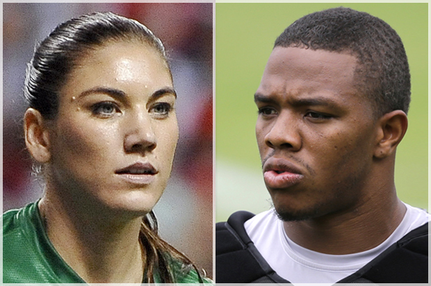 Hope Solo and ray rice
