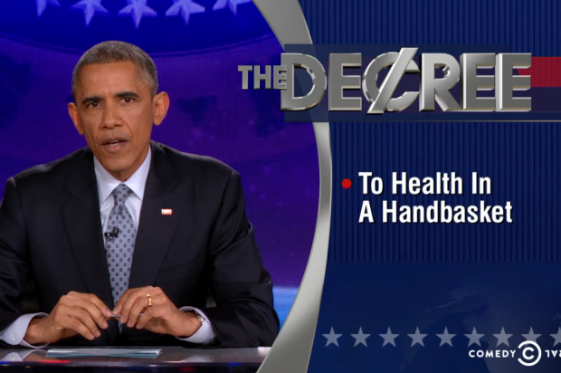 "Barack Obama took over ""The Colbert Report"" last night"