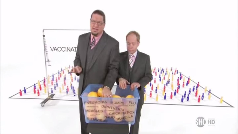 """Penn & Teller slam anti-vaxxers: """"Total bullsh*t"""""""