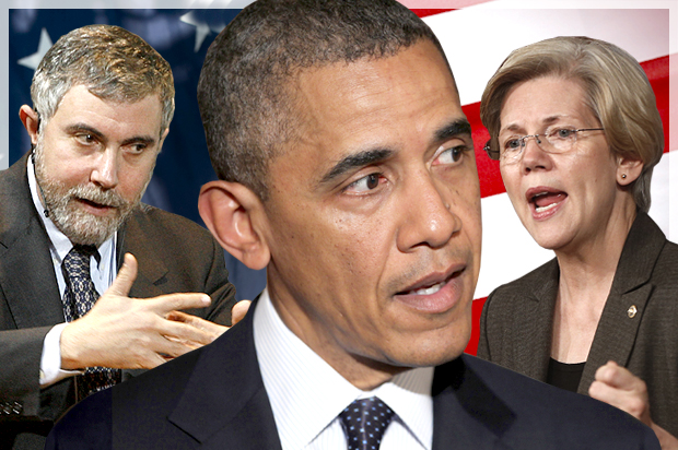He's not suddenly Paul Krugman: Let's not morph Obama into Elizabeth Warren quite yet