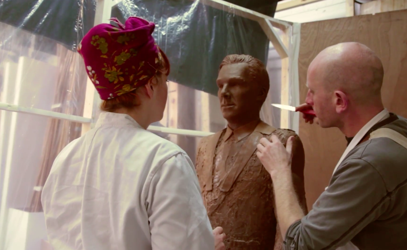 Here's the life-sized chocolate sculpture of Benedict Cumberbatch you never, ever asked for