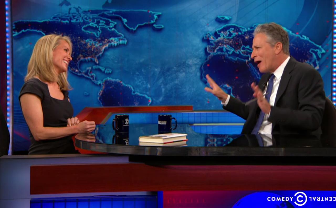 "Jon Stewart rips Fox News host Dana Perino's show right to her face: ""Tell the dumb guy I said ..."