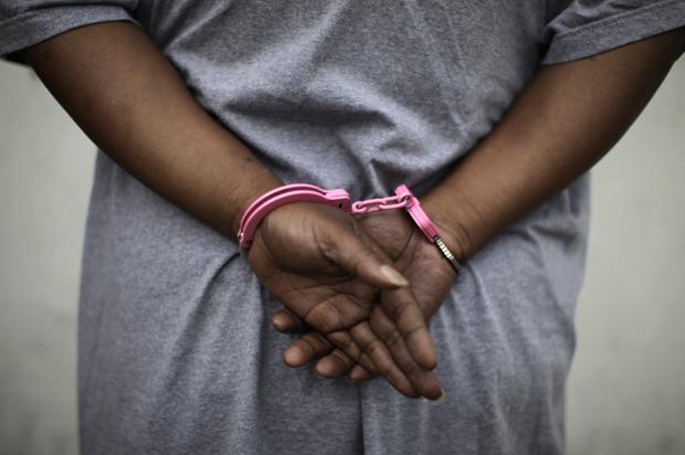 black women in handcuffs