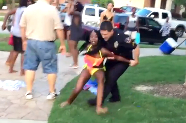 young black girl video VIDEO: White Cop Draws Gun, Roughs Up Black Bikini-Clad Teen.