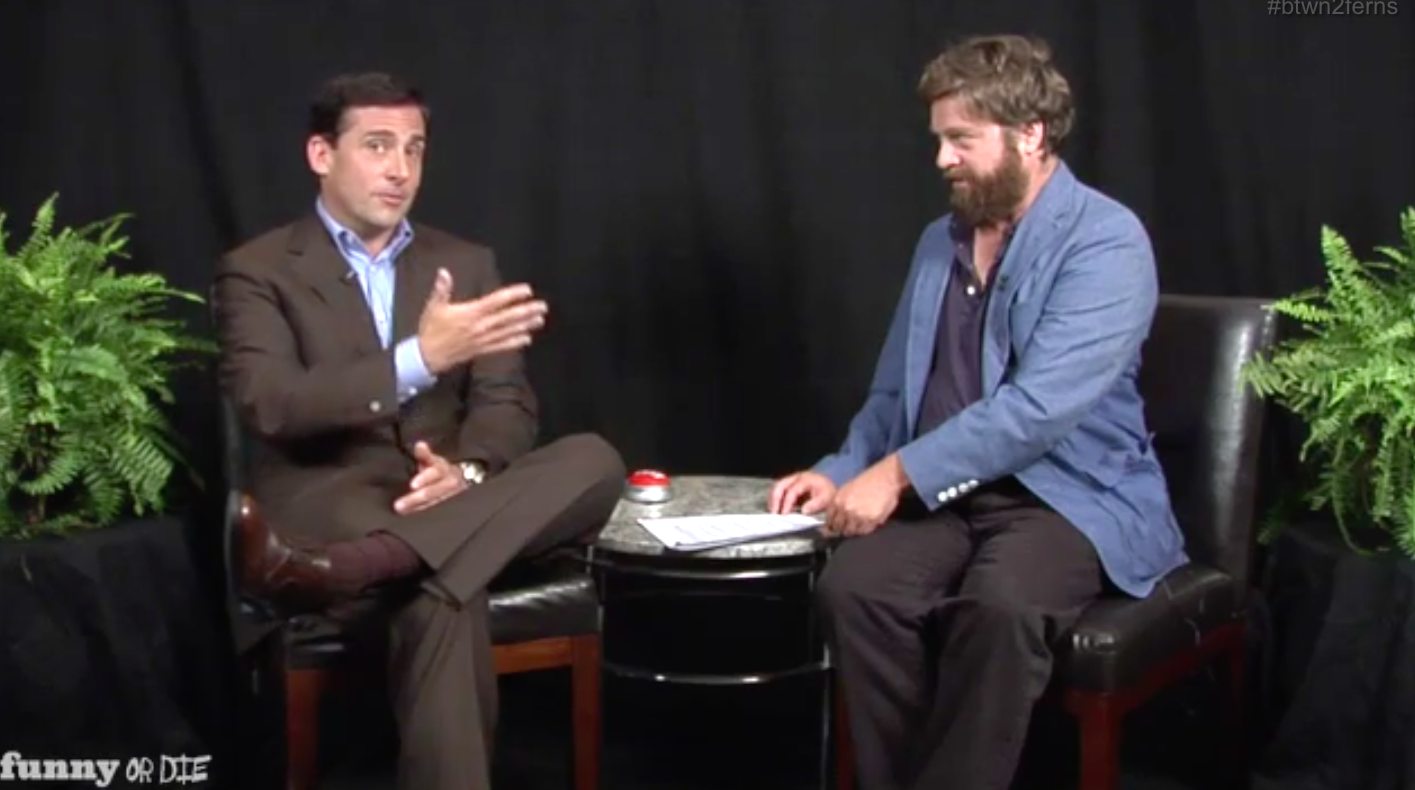 """Buy Here Pay Here No Down Payment >> Viral rewind: Steve Carell made Zach Galifianakis break down in tears on """"Between Two Ferns ..."""
