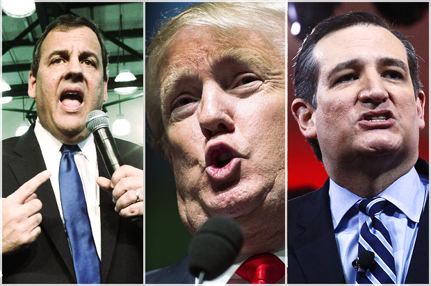 GOP's toxic white male bluster: Trump, Cruz and Christie bully to overcompensate