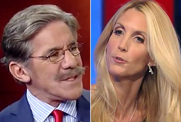 "Immigration cage match! Geraldo Rivera and Ann Coulter throw down on ""Hannity"""