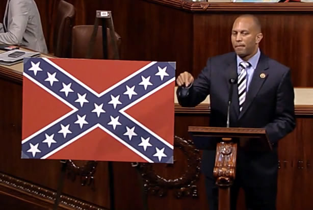 """""""What tradition does the Confederate flag represent? Is it slavery, rape, genocide, treason, or all of the above?"""""""