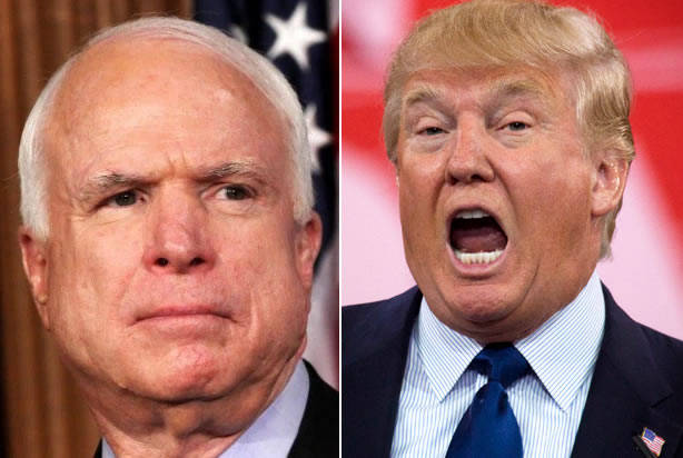 Trump lashes out at McCain on health care vote