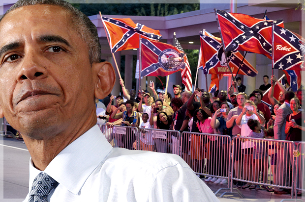 It's heritage, all right: What those ugly anti-Obama Confederate flag protests really mean