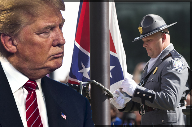 Right-wing racist whack-a-mole: Confederate flag comes down, Donald Trump pops up