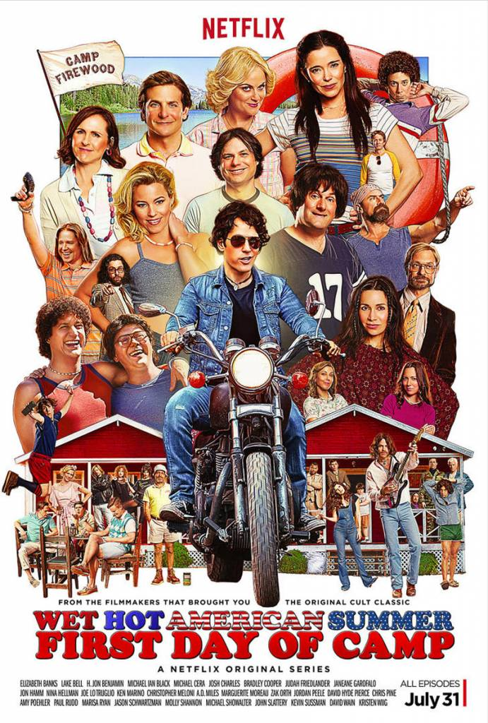 """Amy Poehler, Bradley Cooper and Paul Rudd are back in action for """"Wet Hot American Summer: First Day of Camp"""""""