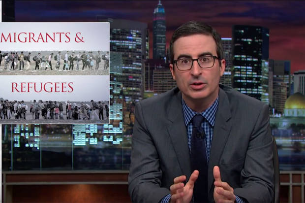 John Oliver destroys Fox News over staggeringly offensive refugee coverage
