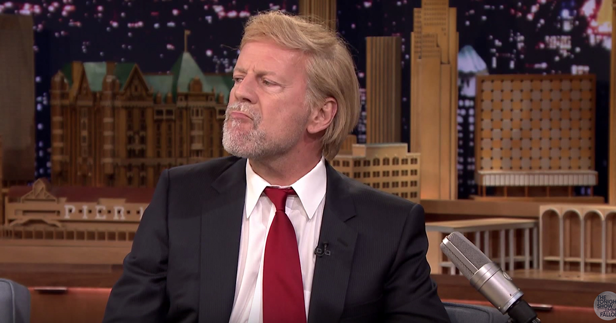 Bruce Willis is suffering from Trumpitis, he tells Jimmy ... Bruce Willis Tower