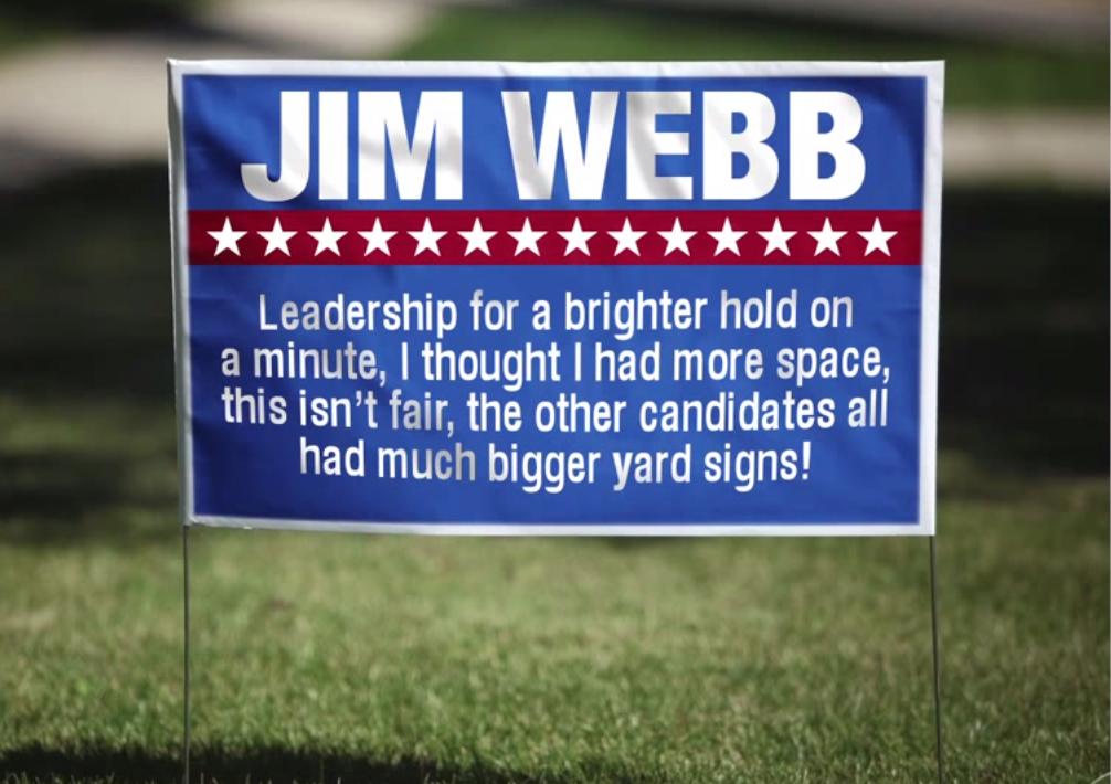 Colbert Jim Webb Sign