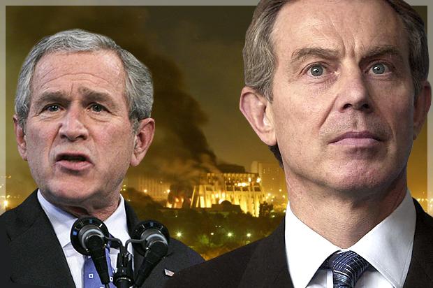 Tony Blair bush saddam ile ilgili görsel sonucu