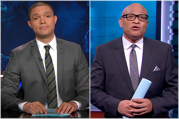 Image result for trevor noah larry wilmore