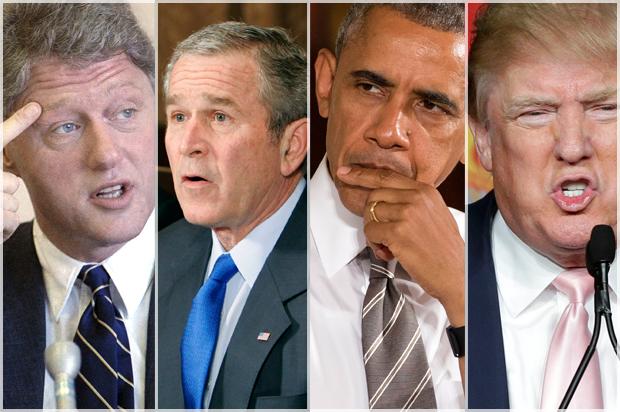 Resultado de imagem para trump obama bush