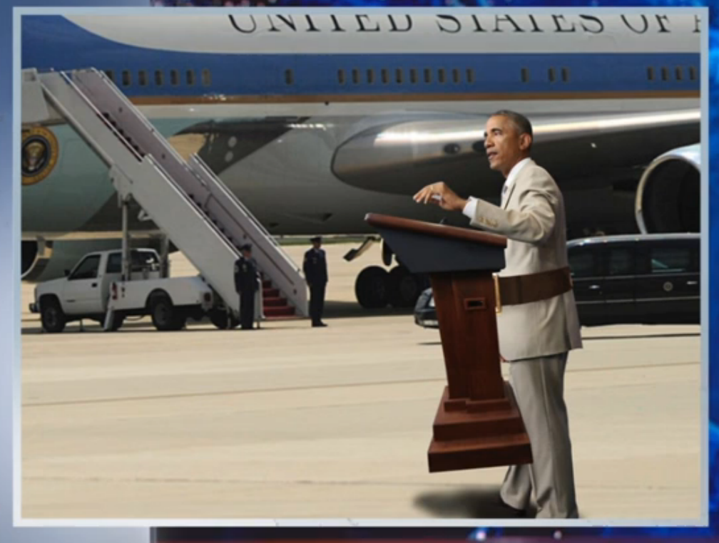 Obama podium belt buckle