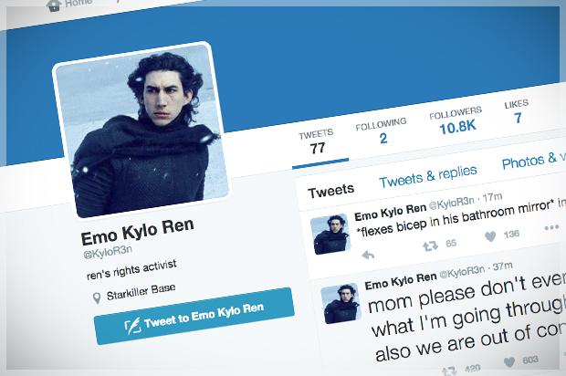 The Best Quot Star Wars Quot Parody On Twitter Is Emo Kylo Ren